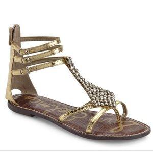 Sam Edelman Gold Ginger Gladiator Sandal